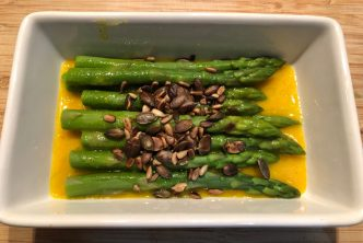 Honey Mustard Asparagus Salad